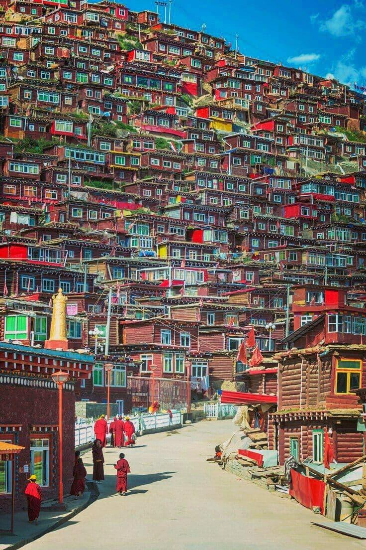 Tibetdagi qishloq😍😍😍