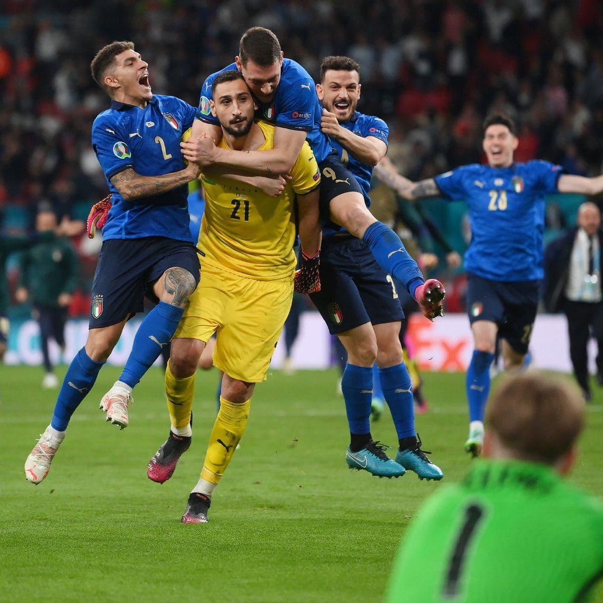 Italiya penaltilar seriyasida Angliyani mag'lub etib, o'z tarixida 2-bor Yevropa chempioniga aylandi